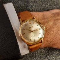 Omega Seamaster DeVille Yellow gold 34mm Silver No numerals
