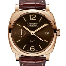 Panerai Red gold Manual winding Brown Arabic numerals 47mm new Special Editions