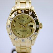 Rolex Lady-Datejust Pearlmaster mit Box und Papieren