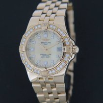 Breitling Starliner diamonds Yellowgold K71340