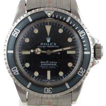 Rolex 1970 Submariner (No Date) 4 Line Black Serif Dial Black...