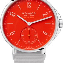NOMOS Ahoi Neomatik Steel 36.3mm Red Arabic numerals