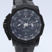 Corum Admiral's Cup Seafender 50 Chrono LHS Steel 44mm Black No numerals