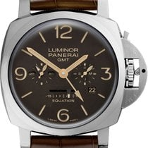Panerai Luminor 1950 8 Days GMT Titanium 47mm Brown Arabic numerals United States of America, New York, New York