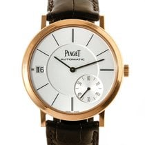 Piaget Rose gold Automatic Silver 40mm pre-owned Altiplano