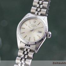Rolex Oyster Perpetual Lady Date Stal 26mm Srebrny