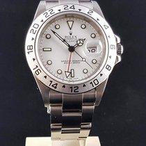 Rolex Explorer II Stål 40mm Vit Inga siffror