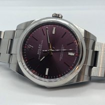 Rolex Oyster Perpetual 39 Steel 39mm Purple No numerals UAE, Abu Dhabi