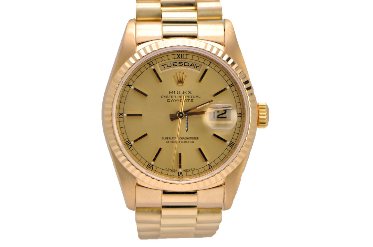 Rolex Presidential Day Date 18k Yellow Gold 18238