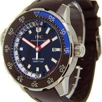 IWC Aquatimer Deep Two Сталь 46mm Чёрный
