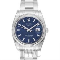 롤렉스 (Rolex) Oyster Perpetual Date Blue/White Gold 34mm - 115234