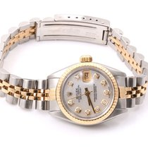 Rolex Ladies 18K/SS Datejust - Mother Of Pearl Diamond Dial  -...