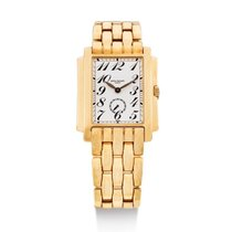 Patek Philippe | A Yellow Gold Rectangular bracelet Watch