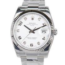勞力士 Oyster Perpetual Date White Gold And Steel White Automatic...