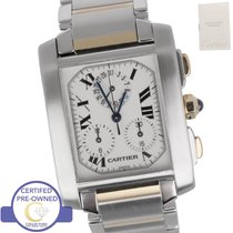 Cartier Tank Francaise Chronoflex Chronograph Two Tone...