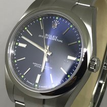 Rolex 39mm Oyster Perpetual Blue Dial 114300