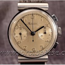 Minerva Steel 35mm Chronograph pre-owned