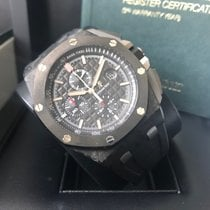 Audemars Piguet Royal Oak Offshore Chronograph Karbon 44mm Svart Ingen tall