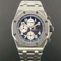 Audemars Piguet Titanium Automatic Blue 42mm pre-owned Royal Oak Offshore Chronograph