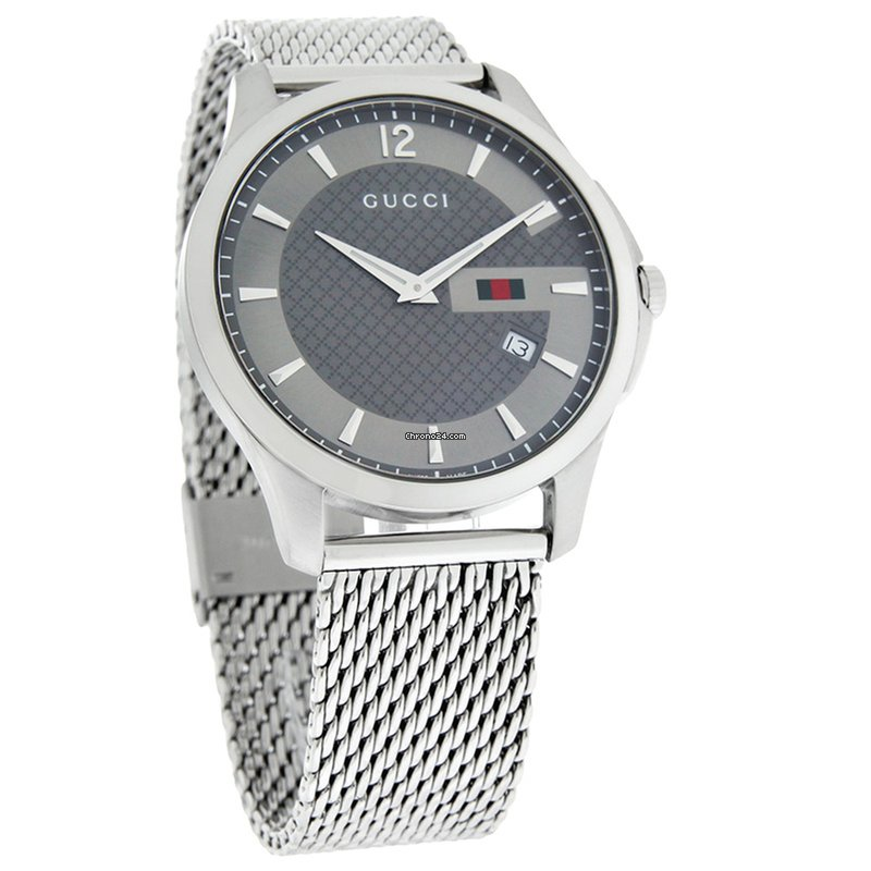 63d0440594b Gucci 126 G-Timeless Mens Stainless Steel Swiss Quartz Watch... for  522  for sale from a Trusted Seller on Chrono24