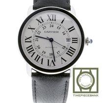Cartier Ronde Croisière de Cartier Acier 42mm Argent Romain