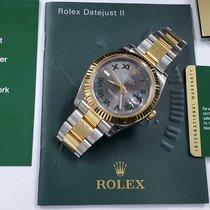 Rolex Datejust II Gold/Steel 41mm Grey Roman numerals