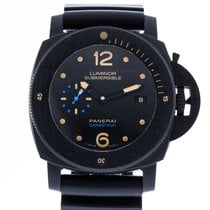 Panerai Carbon Automatic Black 47mm pre-owned Luminor Submersible 1950 3 Days Automatic