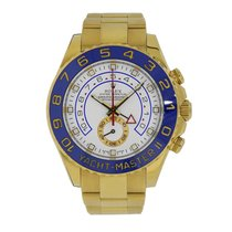 Rolex YACHT-MASTER II 44mm 18K Yellow Gold Blue Hands 116688