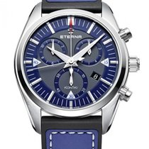 Eterna Kontiki Steel 42mm Blue