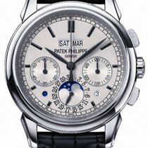 Patek Philippe White gold Manual winding Silver new Perpetual Calendar Chronograph