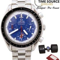 Omega Speedmaster Michael Schumacher Racing Blue Auto B&P...