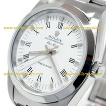 Rolex Air King Precision White Dial Roman Numerals 34mm 14000 M