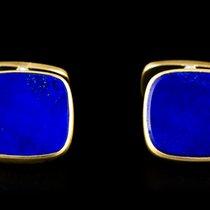 Patek Philippe 18k Yellow Gold Lapis Lazuli Cufflinks