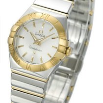 Omega Constellation Quartz 24MM Two Tone Steel Quartz Watch...