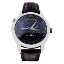 Jaeger-LeCoultre Master Geographic pre-owned 38mm Black Leather