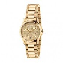 d69e81bb10d Gucci pre-owned Quartz 27mm Gold Sapphire Glass 5 ATM. Gucci G-Timeless  Ladies 27mm