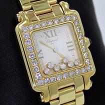 Chopard Yellow gold Quartz Gold Roman numerals 27mm pre-owned Happy Sport