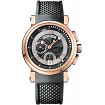 Breguet Or rose Remontage automatique Noir 42mm occasion Marine