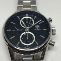 TAG Heuer Acier Chronographe Remontage automatique 41mm 2011 Carrera Calibre 1887