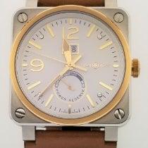 Bell & Ross BR 03-90 Grande Date et Reserve de Marche Stahl 42mm Weiß Arabisch