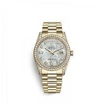 Rolex Day-Date 36 Zuto zlato 36mm Sedef-biserast