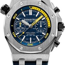 Audemars Piguet Royal Oak Offshore Diver Chronograph Stahl 42mm Blau