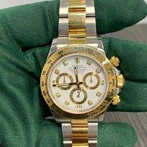 Rolex Daytona Gold/Stahl 40mm Weiß Keine Ziffern