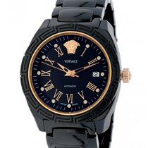 Versace pre-owned Automatic 40mm Black Sapphire crystal 5 ATM