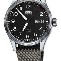 Oris Big Crown ProPilot Day Date, Grey Textile Bracelet