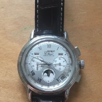 Zenith El Primero Chronomaster pre-owned 39mm Silver Moon phase Chronograph Date Weekday Month Buckle