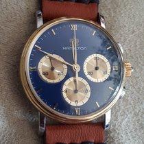 Hamilton Chronograph Gold Bezel NOS