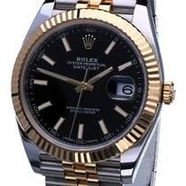 Rolex Datejust II Acero y oro 41mm Negro Sin cifras