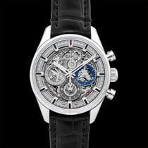 Zenith Chronomaster El Primero Full Open Grey Steel/Leather...