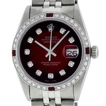 Rolex Datejust Steel 36mm Red United States of America, California, Los Angeles